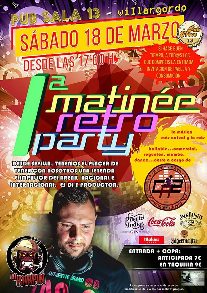 1ª Matinee Retro Party en Pub 13